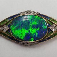fine-estate-jewelry-simsbury-windsor-bill-selig-jewelers-Opal-Dia-Accents-Pin-1119
