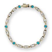 gemstone-bracelet-cirque-Jane-Taylor-tennis-bracelet-yellow-gold-white-topaz-turquoise